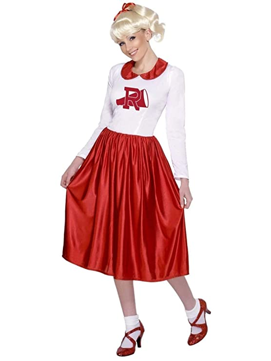 1950s Costumes- Poodle Skirts, Grease, Monroe, Pin Up, I Love Lucy Smiffys 49 Red and White Grease Sandy Women Medium Fancy Dress Halloween Costume $78.99 AT vintagedancer.com