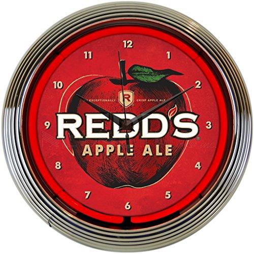 Neonetics 8MCRED Redds Apple Ale Neon Clock Ale Clock