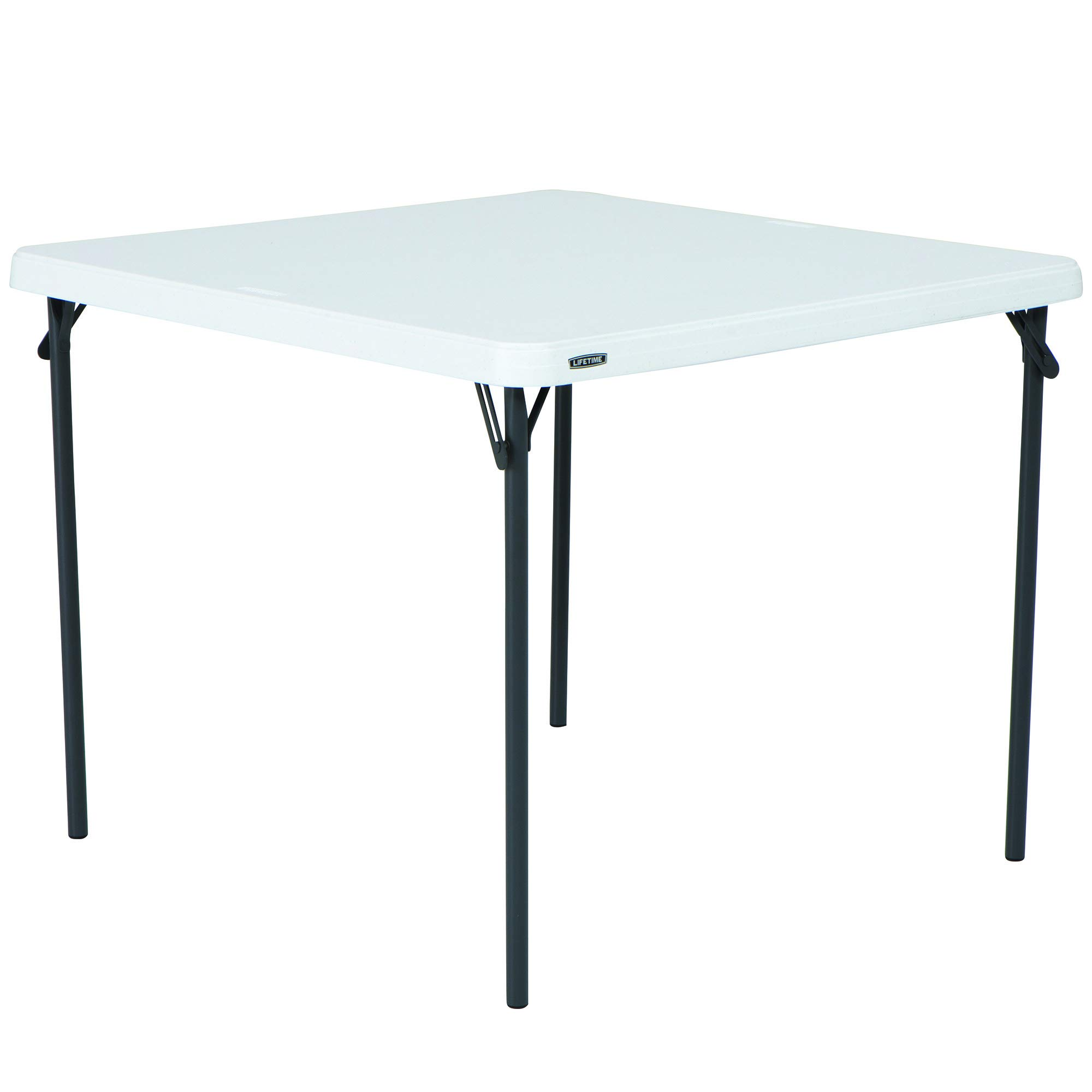 Lifetime 80783 37-Inch Commercial Grade Square Folding Table, White Granite by Lifetime