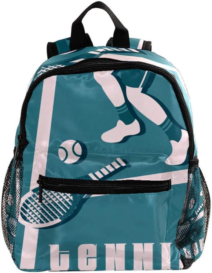 Tenis de Mesa Azul Mochila Ligera para niños Mochila Escolar para niños pequeños Mochila Duradera para Libros Casuales para niñas y niños 25.4x10x30cm
