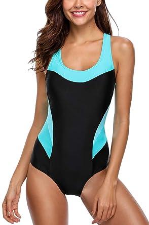 Outlet zum Verkauf meistverkauft online hier Avacoo Damen Badeanzug Figurformend Schwimmanzug Mit Performance-Schnitt  Racer-Back Sport Bademode