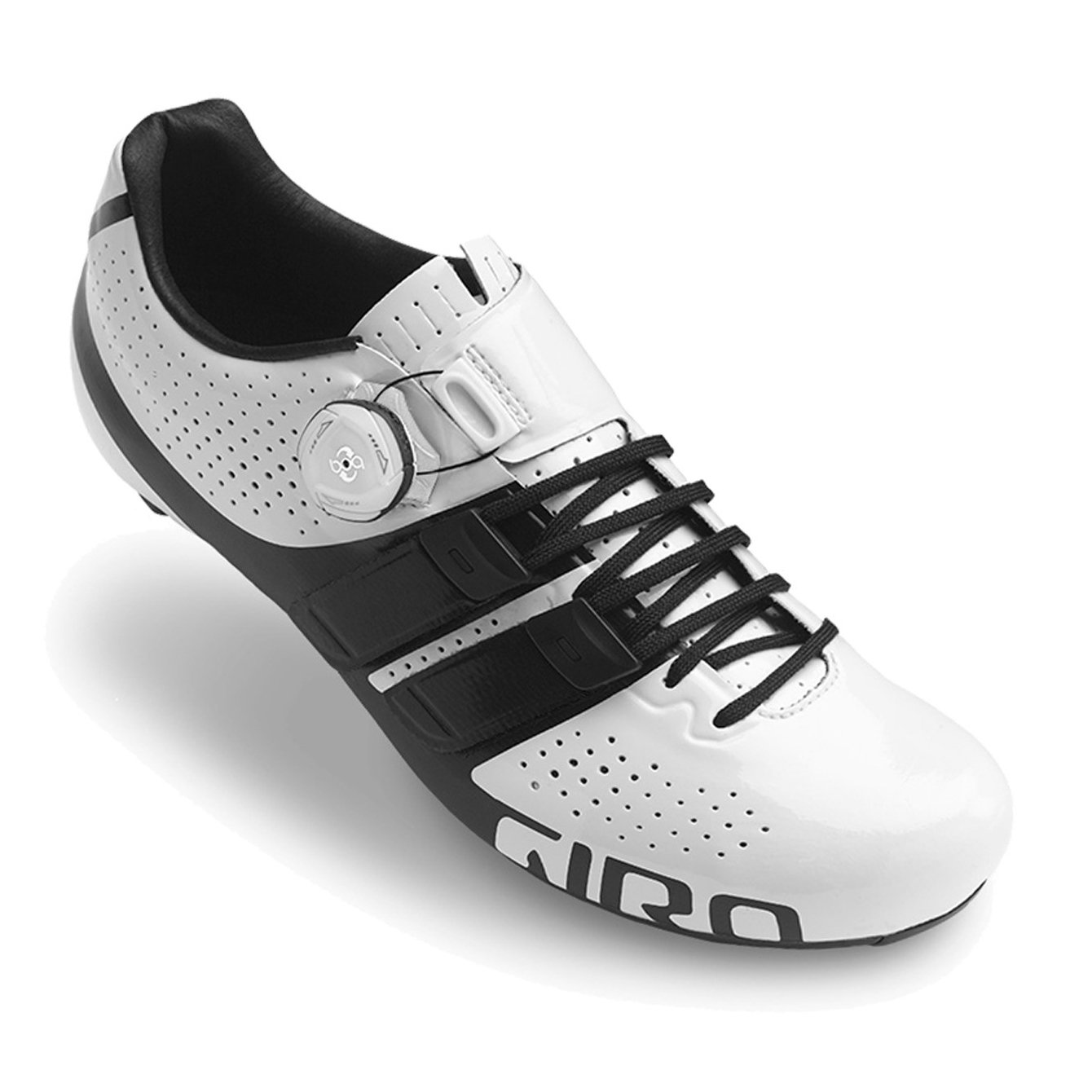 GIRO(ジロ) FACTOR Techlace Road Cycling Shoes - White/Black [並行輸入品] 42 EUR [27cm]  B07C9S5292