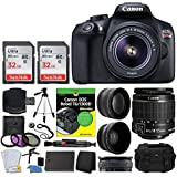 Canon EOS Rebel DSLR T6 Camera Body + Canon 18-55mm EF-S IS II Autofocus Lens + Wide Angle & 2x 58mm Lens + SanDisk 64GB Card + T6/1300D for Dummies + Photo4Less Gadget Bag + Quality Tripod ? Full Kit