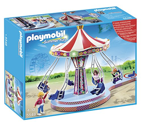 PLAYMOBIL 5548 Summer Fun Chain carousel with colourful - Playmobil Light