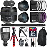 Canon EF 85mm f/1.8 USM Lens + 0.43X Wide Angle Lens + 2.2x Telephoto Lens + Flash + UV-CPL-FLD Filters + Macro Filter Kit + 72 Monopod + Tripod + 64GB Class 10 + Backpack - International Version
