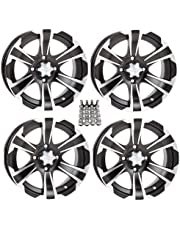 amazon wheels accessories wheels tires automotive Polaris ATV Buggy itp ss312 atv wheels rims black 12 polaris sportsman rzr ranger