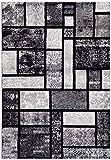 Persian-Rugs 5 Feet x 7 Feet- Area Rug Modern Carpet, Gray
