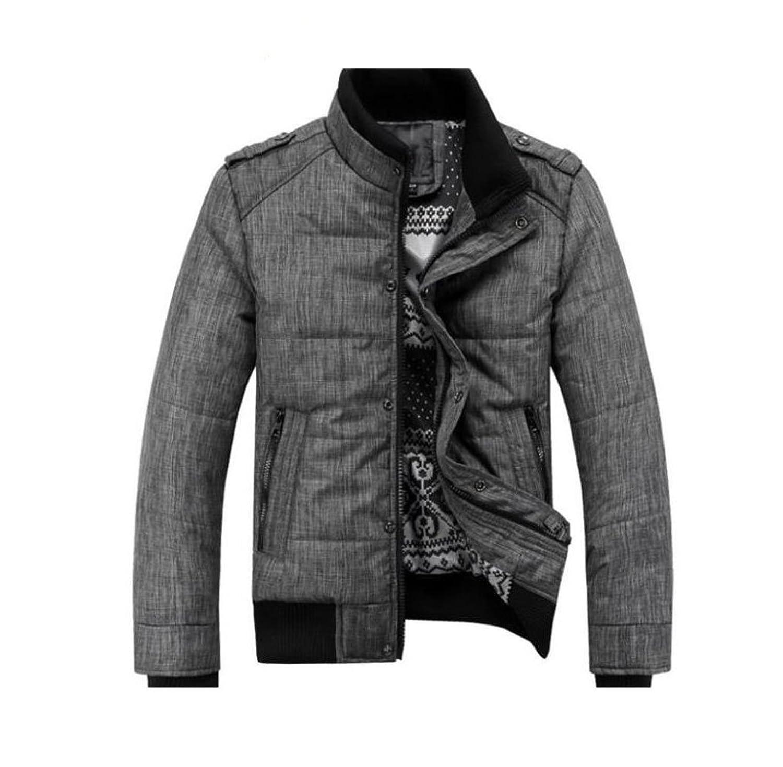 Gaorui Men winter sport quilted jacket cotton-padded coats Zipper ... : men quilted coat - Adamdwight.com
