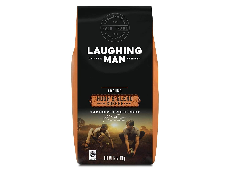 Laughing Man Hugh's Blend, Ground Coffee, Medium Roast, Bagged 12 oz