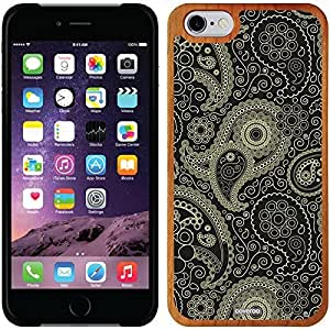 Coveroo iphone 4 4s Madera Wood Thinshield Case with Paisley Black and Tan Design