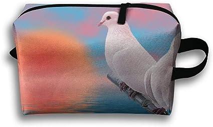 Bolsa de viaje Dove Sunset para artículos de aseo neceser, monedero, cosméticos, estuche multifunción, organizador de almacenamiento: Amazon.es: Belleza