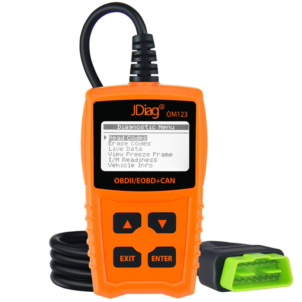 Amazon.com: JDiag OM123 Enhanced OBD2 Scanner Car Diagnostic Scan ...