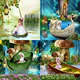 ALLY'S POND DIGITAL BACKGROUNDS PHOTOGRAPHY BACKDROPS CHILDREN, FANTASY