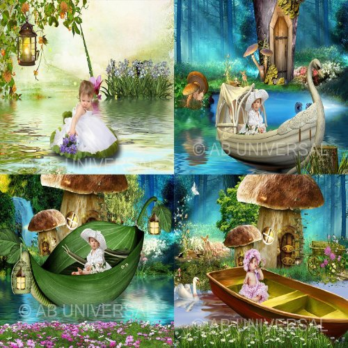 ALLY'S POND DIGITAL BACKGROUNDS PHOTOGRAPHY BACKDROPS CHILDREN, FANTASY (Best Background For Photoshop)