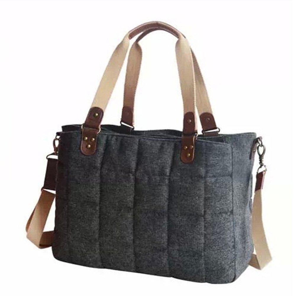 LCY Gentle Satchel Diaper Bag Black Gray