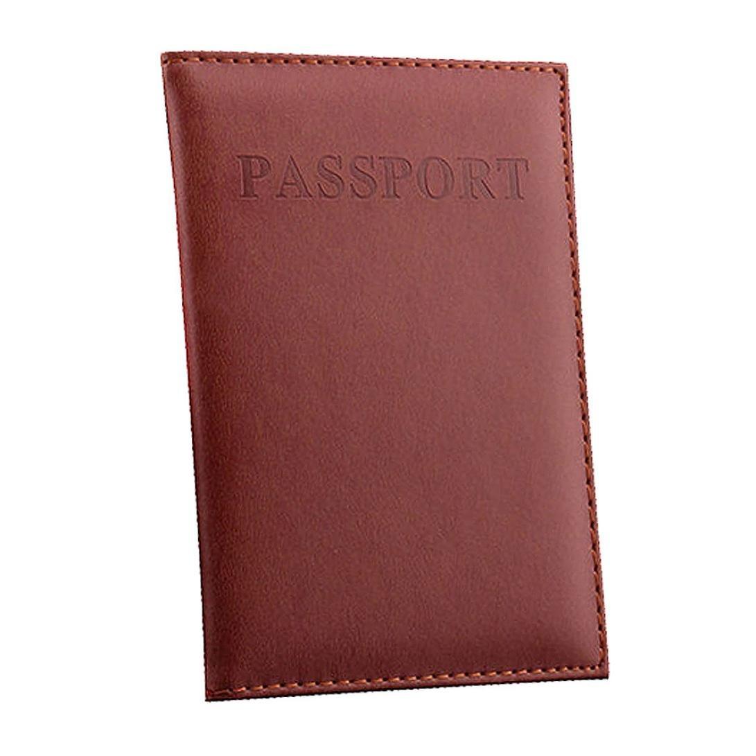 YJYDADA Dedicated Nice Travel Passport Case ID Card Cover Holder Protector Organizer (Brown)