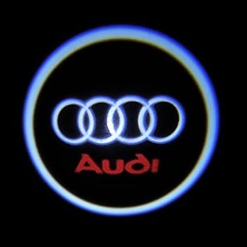 Amazoncom W Th Generation Car Logo LED Ghost Shadow Light - Audi car sign