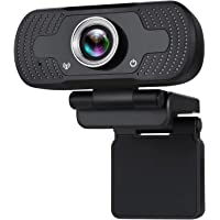 OIOSEN HD Webcam Cámara 1080p con micrófono para Video Llamadas y grabación, Enfoque automático y Compatible con Mac OS…