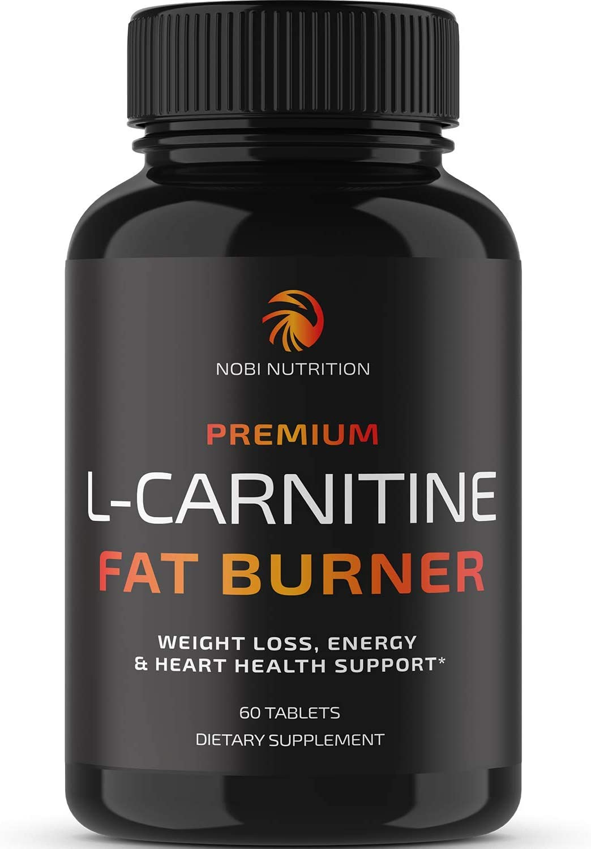 Nobi Nutrition L-Carnitine Fat Burner - Healthier Weight Loss for Women & Men - Diet Pills, Appetite Suppressant, Carb Blocker, Metabolism & Thermogenesis Booster