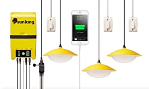 Greenlight Planet Home 120 Solar Lighting System Plus USBCharger