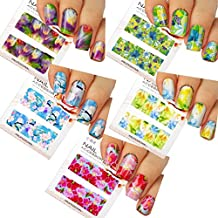 Nail Art Water Slide Tattoo Decals ♥ Full-Cover ♥ Blossom Flowers, 5 - pack ♥ /CIII/ // ongles autocollants art toboggan de tatouage ♥ ♥ pleine couverture Blossom Flowers, 5 - Pack ♥ / CIII /