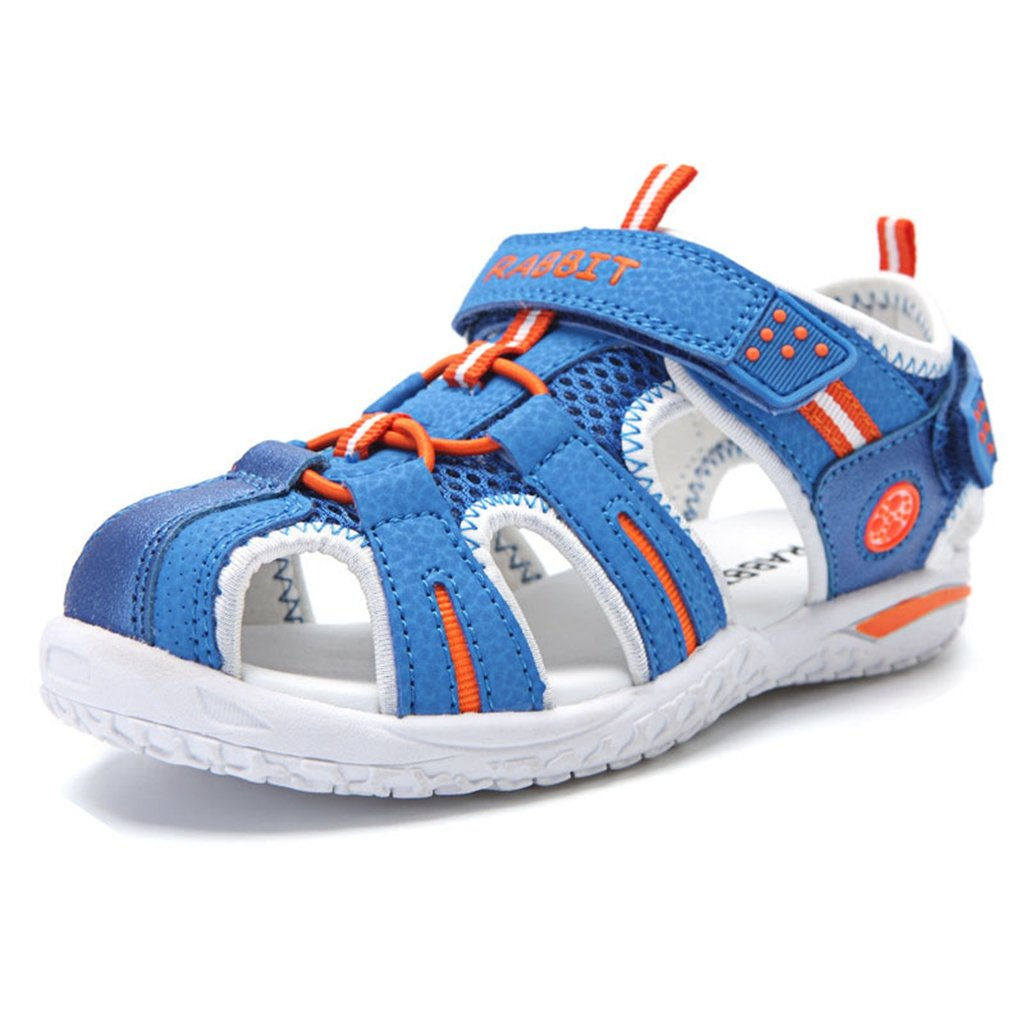 Boy's Girl's Outdoor Athletic Strap Breathable Closed-Toe Water Athletic Beach Sandals(Toddler/Little Kid/Big Kid)?