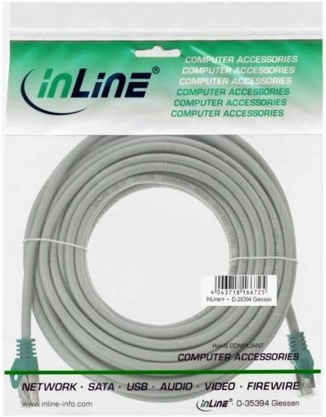 FTP Inline Crossover Patch Cable 10m Grey Cat.5e