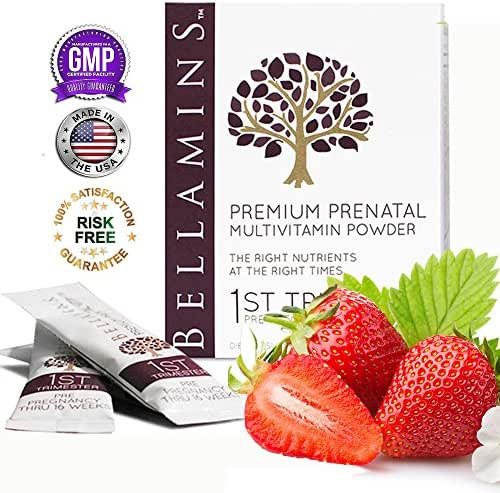 Prenatals for 1st TRIMESTER development | Berry-Lemonade drink mix | With Probiotics, and Body-Ready Folic Acid (Methyl Folate) | 30 Day Supply | Best for Soothing Morning Sickness and Nausea