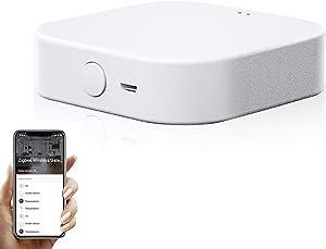 WiFi Gateway Wireless Smart Bridge: Smart Hub, Smart Home Bridge, Smart Gateway Hub, APP Remote Control,Voice Control, Works with Alexa Google Home, Connects with All Tuya ZigBee 3.0 Smart Products