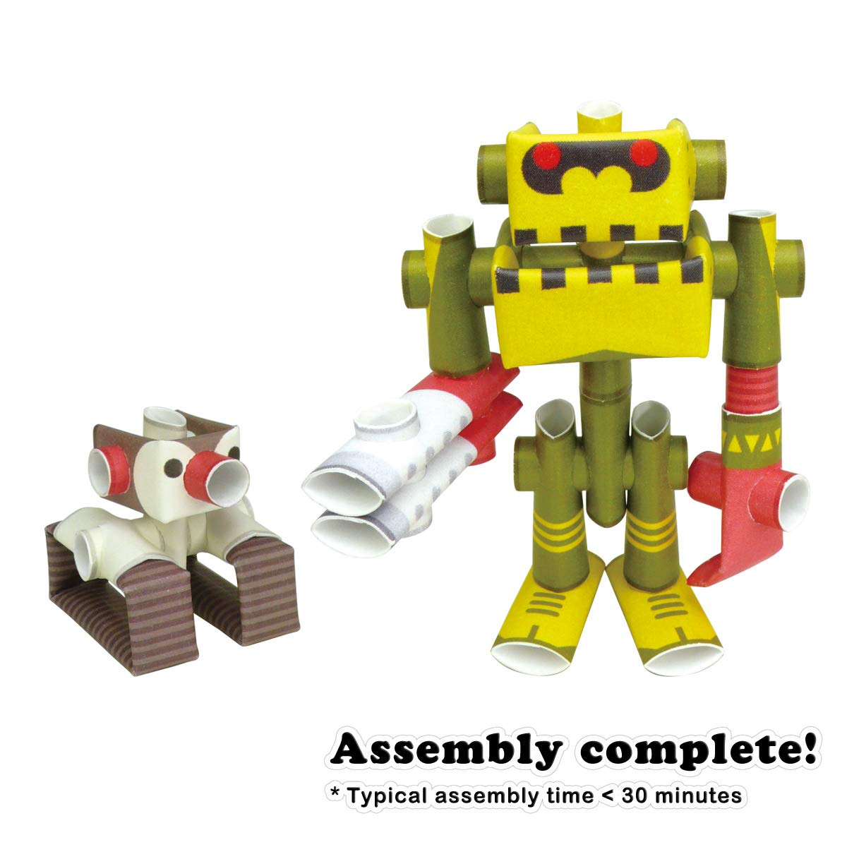 Professor /& His Robot Old Package PIPEROID Penk /& Goriborg Paper Craft Robot kit from Japan