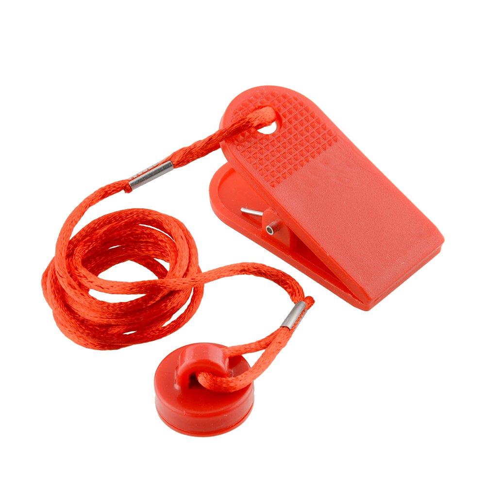 Forfar 1 pc Clé de sécurité de la machine à coudre universelle de sport Tapis roulant sécurité magnétique Interrupteur rond Lock Fitness Pour la plupart des tapis de course rouge