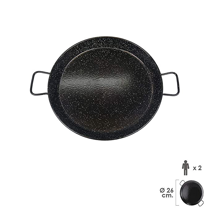 Amazon.com: Garcima Paella Pan (Acero Esmaltado, 26 cm (1 ...