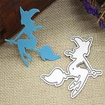 LandFox Halloween Metal Cutting Dies Stencils Scrapbooking Embossing DIY Crafts (D)