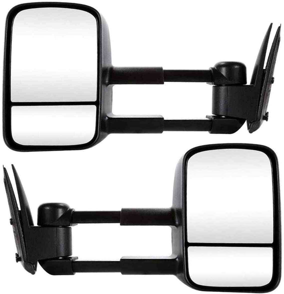 AutoShack KAPGM1320416PR Pair of Driver Side and Passenger Side Manual Towing Side View Mirrors