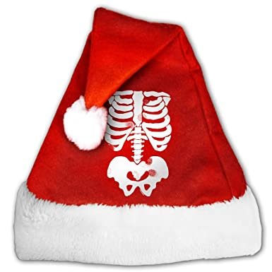 mortimer originals x ray skeleton bones subway santa hat christmas costume hat for children and