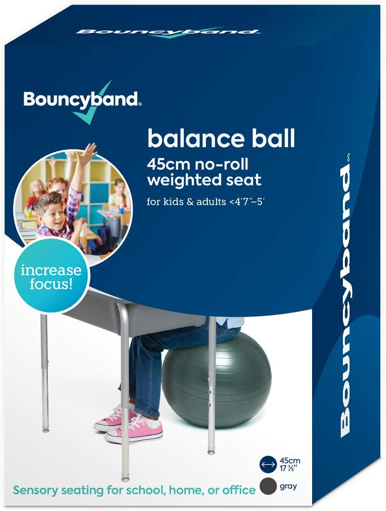 Balance Ball - No-Roll Weighted Seat is a Flexible Chair for School, Office or Home(Small, Dark Gray)