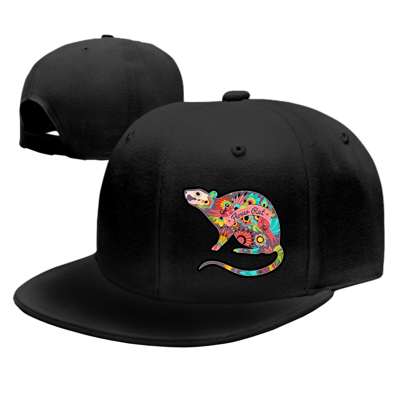 ShirAbe Unisex Baseball Cap Flower Rat Dad Hat Adjustable