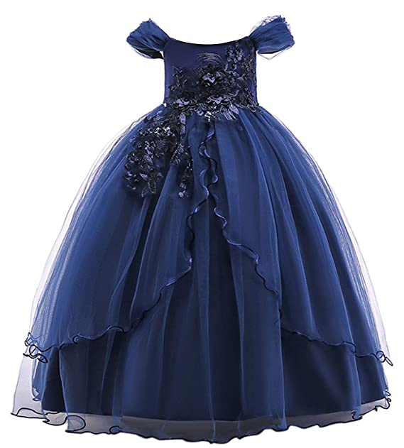 2ec7c0b16 Happy cherry - Vestidos de Princesa con Lazo para Niña Falda Larga ...
