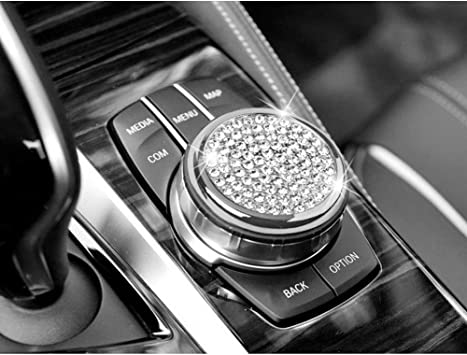 "2.28/""Bling Steering wheel Logo Diamond Ring Cover Sticker For BMW x1 x3 x4 x5 x6"