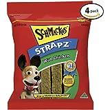 SCHMACKOS STRAPZ Chicken Flavour Dog Treats 2kg Value Pack, (4 x 500g Bags)
