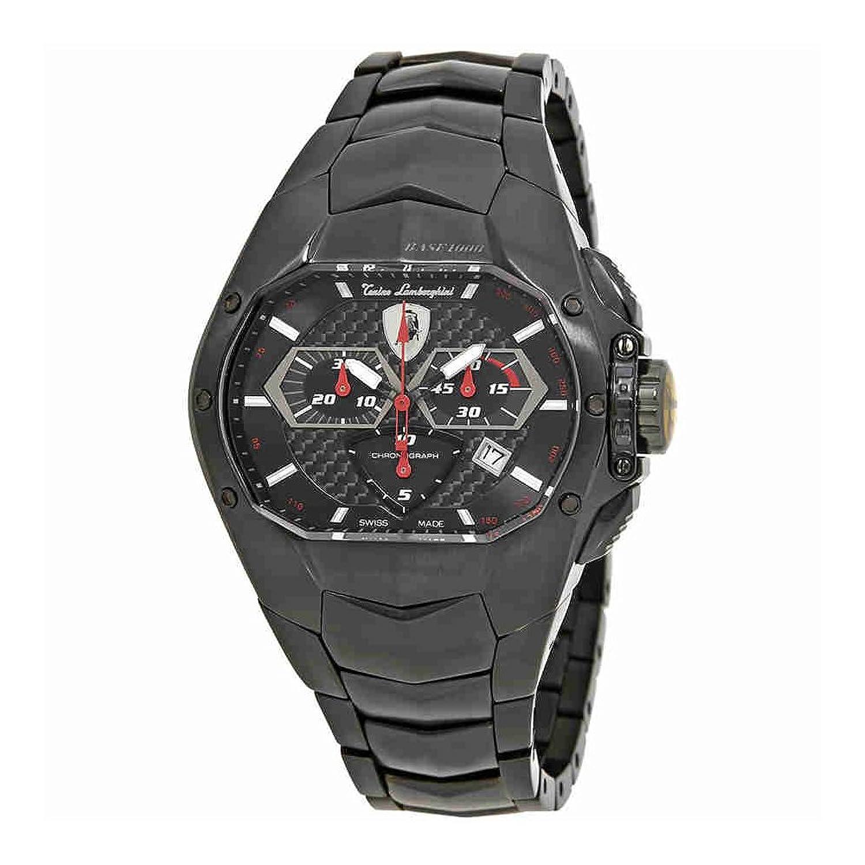 Lamborghini gt1 800ブラックダイヤルメンズクロノグラフ腕時計850b B00PIQEAR0