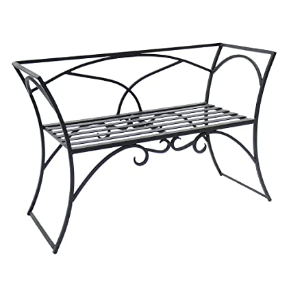 Phenomenal Wrought Iron Arbor Bench With Back Squirreltailoven Fun Painted Chair Ideas Images Squirreltailovenorg
