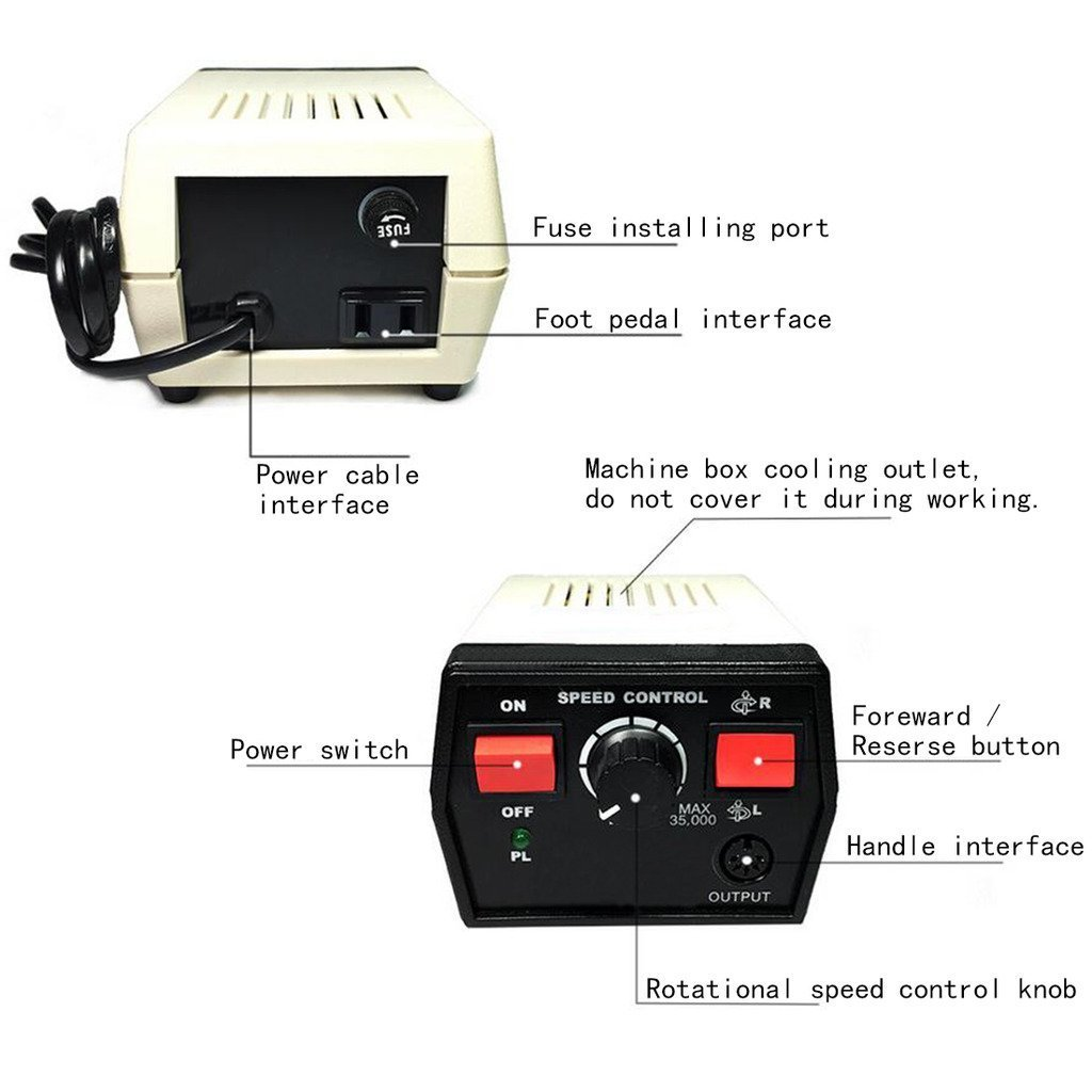 Superdental Micromotor Marathon Machine STRONG 204+102L Grinding Machine 35000RPM For Nail/Gem/Emerald/Wood/Jewelry