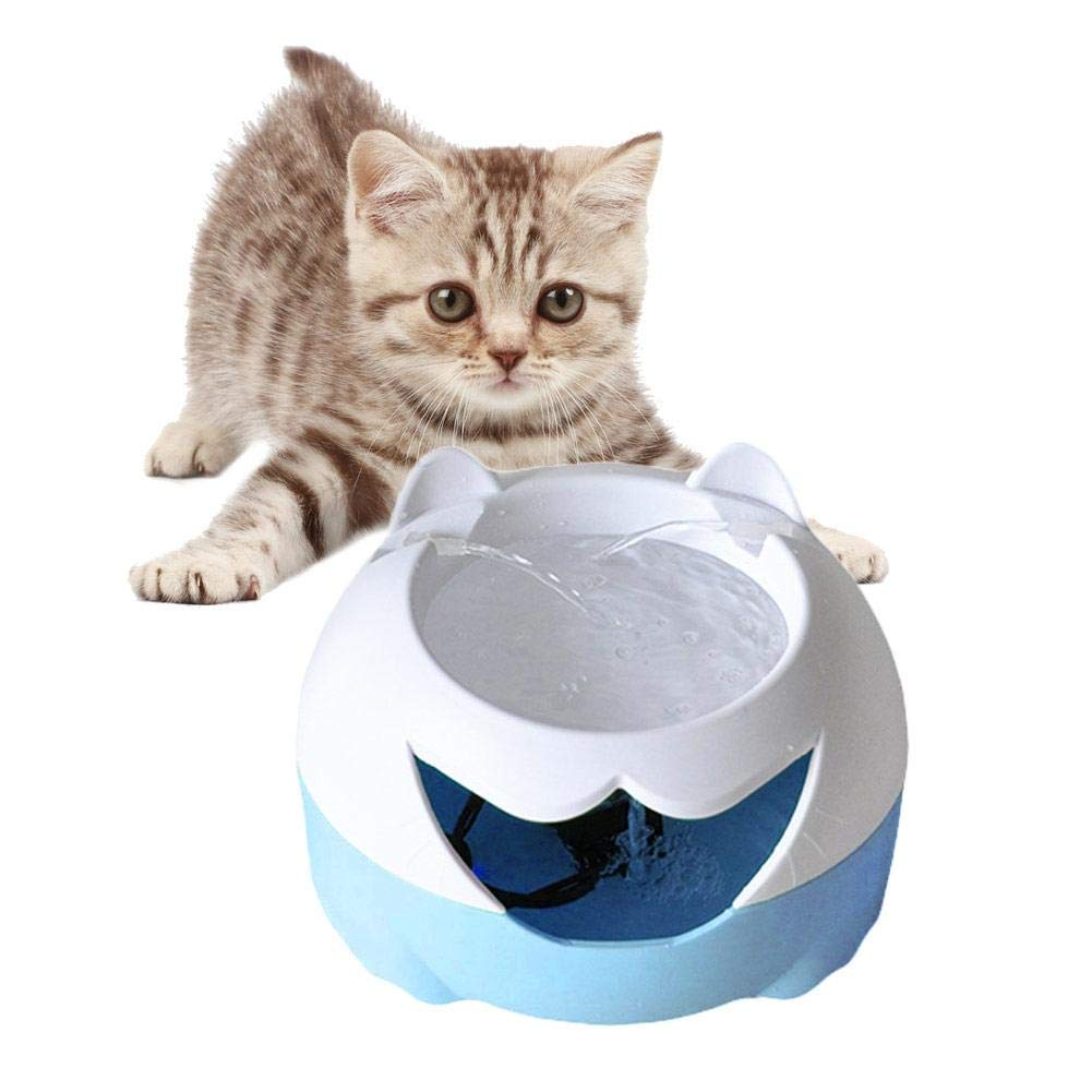 Alimentador automático de Agua de circulación eléctrica Fuente Bebedero USB Tipo 3L Dispensador de Agua para Mascotas Gato y Perro Filtro Profundo Bebedero ...
