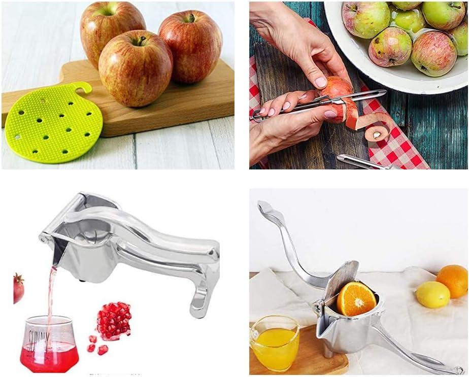 Hand Fruit Juice Squeezer Stainless Steel Alloy Single Press Fruit Squeezer for Lemon Orange Apple Heavy Duty Hand Press Fruit Juicer Detachable Lemon Squeezer