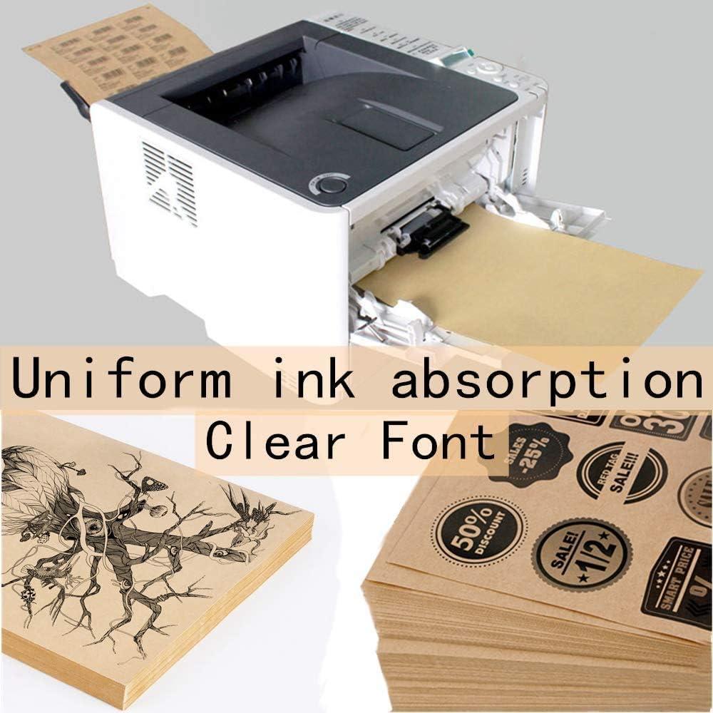 50 B/ögen A4 selbstklebendes Kraftpapie A4 Kraft Braune Aufkleber Etiketten Papier Geeignet f/ür Laser Tintenstrahldruck Kopiererdruck,80g Kraftpapier mat