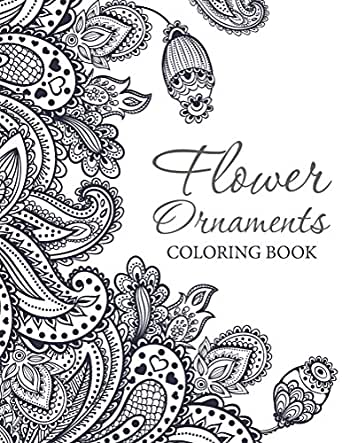 Flower ornaments adult coloring book art book series Coloring book for adults amazon