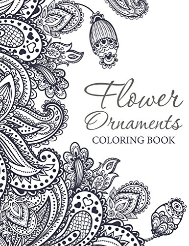 Flower Ornaments Adult Coloring Book ebook product image