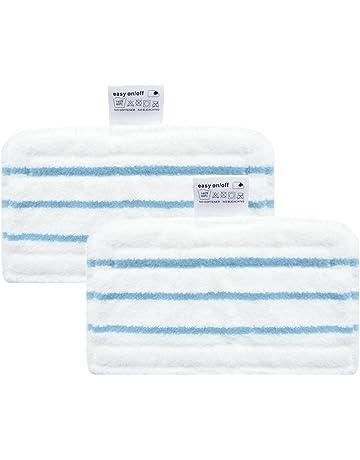 A Lot de 10 lingettes microfibres lavables pour nettoyeur vapeur