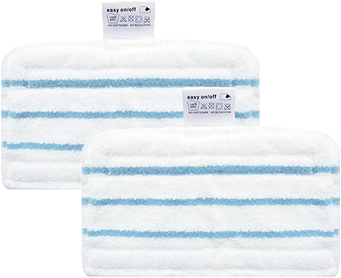 Behavetw 3pcs Replacement Steam mop in Microfibra Panno Pad Universale Lavatrice mop Pad Replacement White Taglia Libera 27/* 16/cm